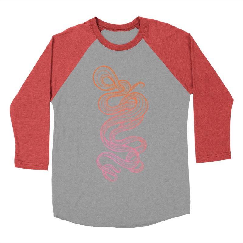 Curlique Women's Baseball Triblend T-Shirt by kaboodle's Artist Shop