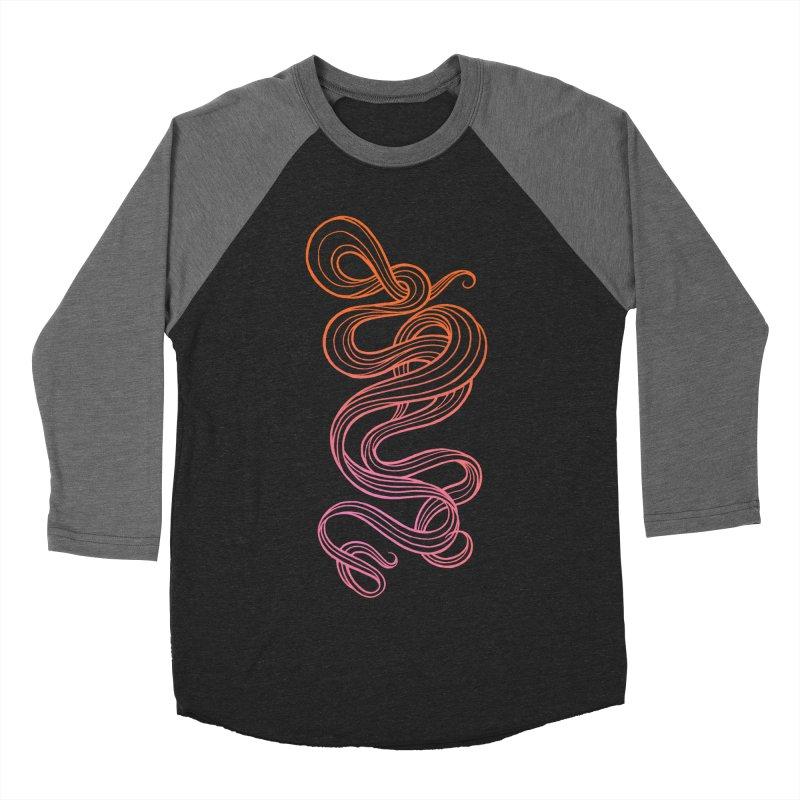Curlique Men's Baseball Triblend T-Shirt by kaboodle's Artist Shop
