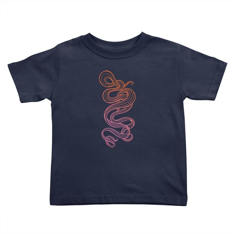Curlique Kids Toddler T-Shirt by kaboodle's Artist Shop