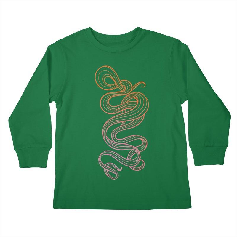 Curlique Kids Longsleeve T-Shirt by kaboodle's Artist Shop