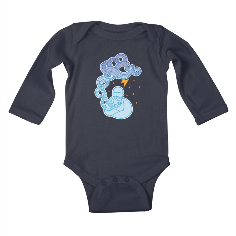 Thunderstruck Kids Baby Longsleeve Bodysuit by kaboodle's Artist Shop