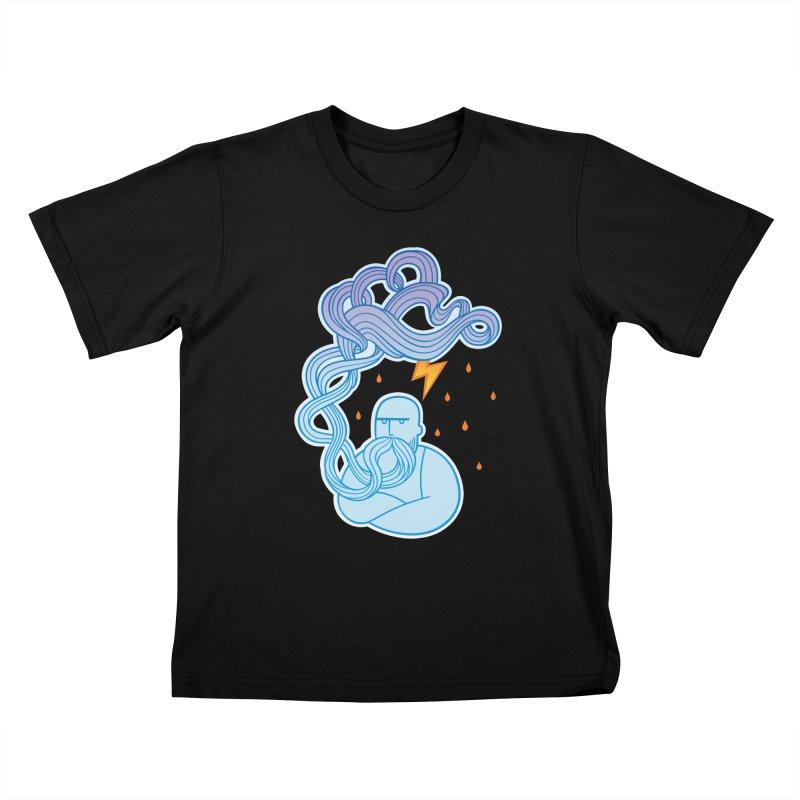 Thunderstruck Kids T-Shirt by kaboodle's Artist Shop