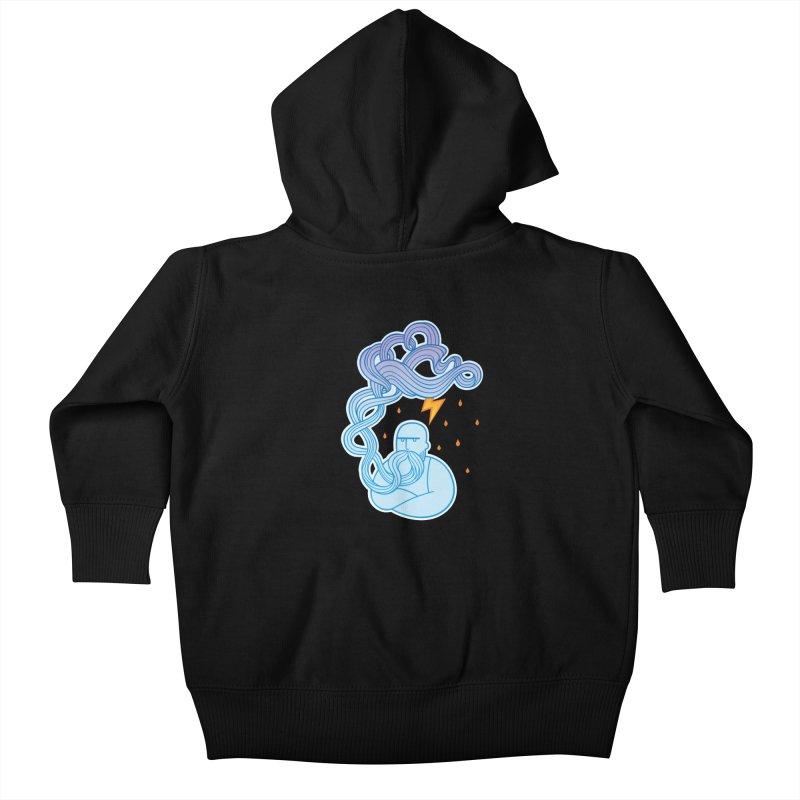 Thunderstruck Kids Baby Zip-Up Hoody by kaboodle's Artist Shop