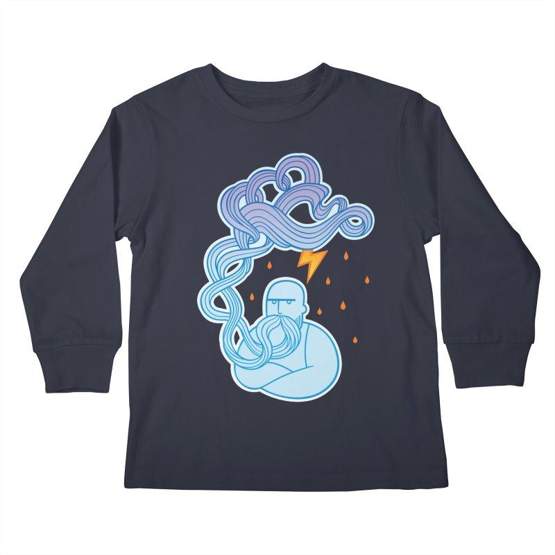 Thunderstruck Kids Longsleeve T-Shirt by kaboodle's Artist Shop