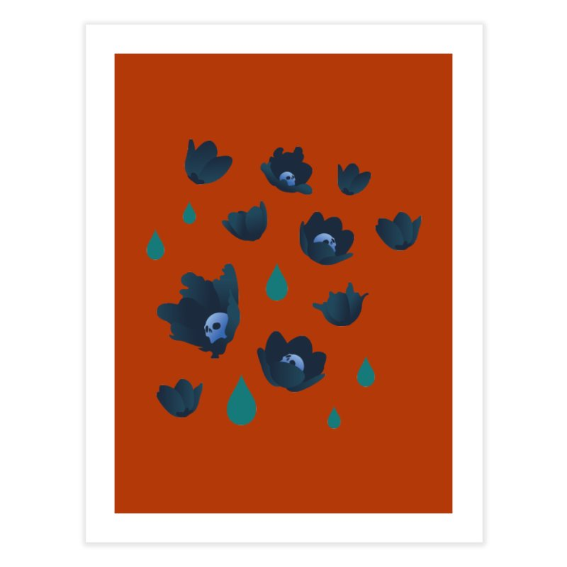 Winter Poppies (Rust) Home Fine Art Print by kaboodle's Artist Shop
