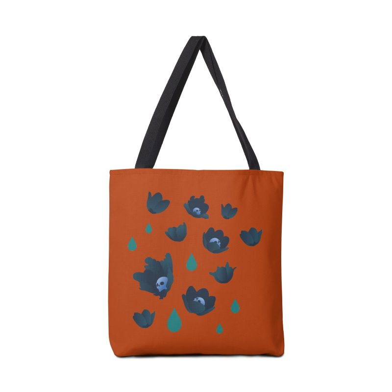 Winter Poppies (Rust) Accessories Bag by kaboodle's Artist Shop