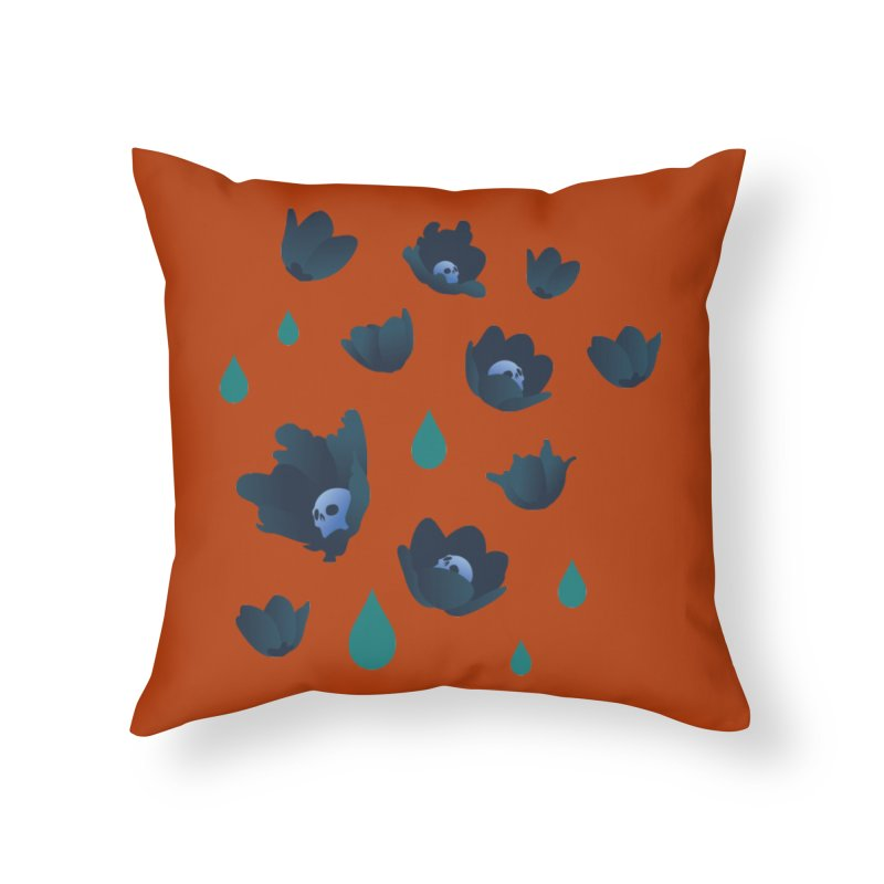 Winter Poppies (Rust) Home Throw Pillow by kaboodle's Artist Shop