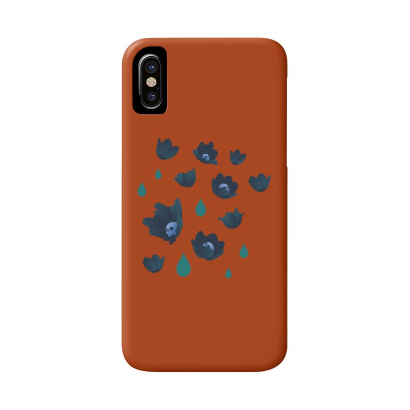 Winter Poppies (Rust) Accessories Phone Case by kaboodle's Artist Shop
