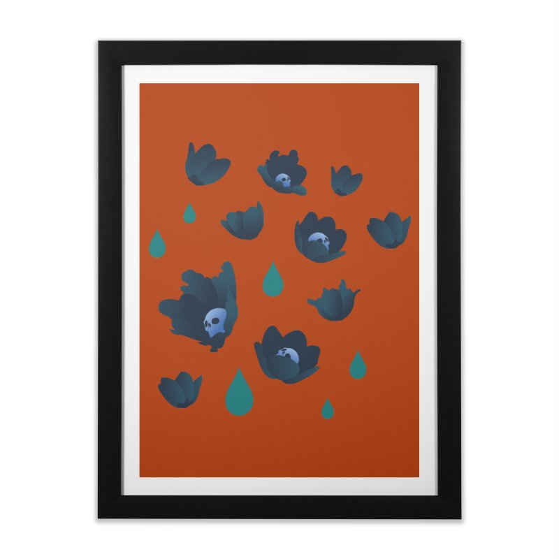 Winter Poppies (Rust) Home Framed Fine Art Print by kaboodle's Artist Shop