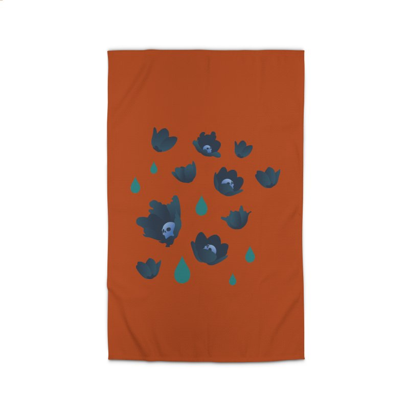 Winter Poppies (Rust) Home Rug by kaboodle's Artist Shop
