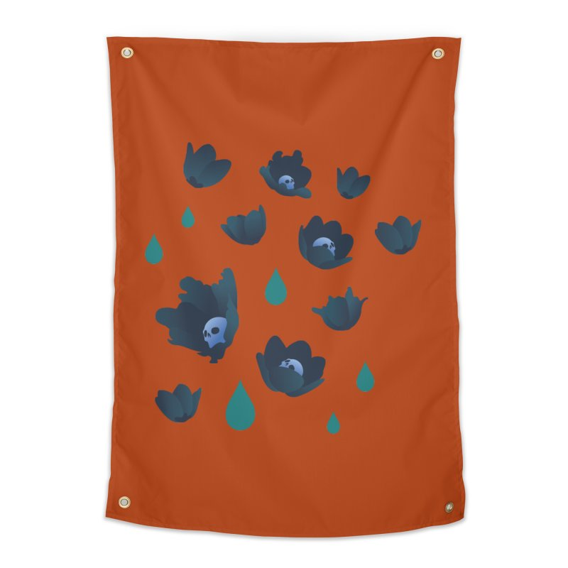 Winter Poppies (Rust) Home Tapestry by kaboodle's Artist Shop