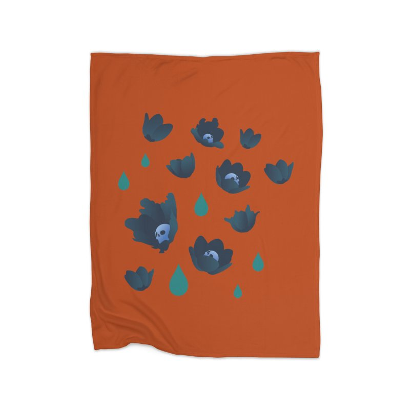 Winter Poppies (Rust) Home Blanket by kaboodle's Artist Shop