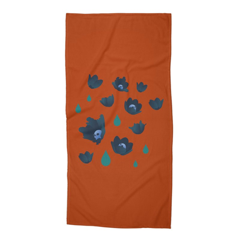 Winter Poppies (Rust) Accessories Beach Towel by kaboodle's Artist Shop