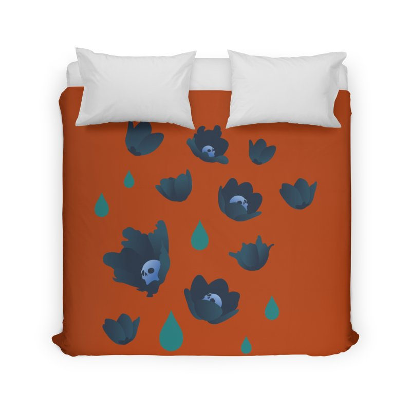 Winter Poppies (Rust) Home Duvet by kaboodle's Artist Shop