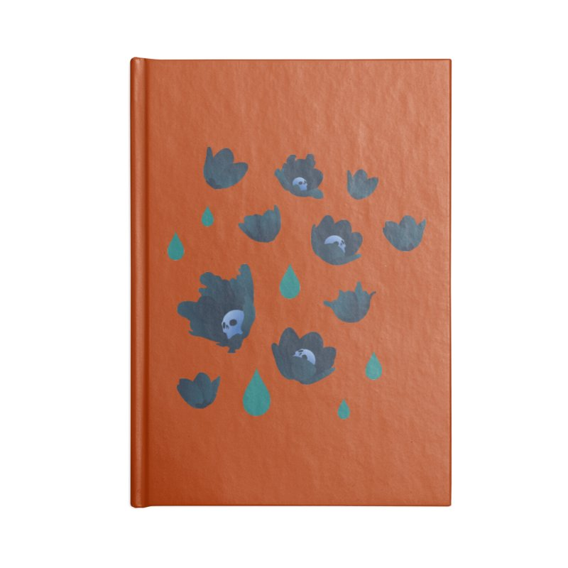 Winter Poppies (Rust) Accessories Notebook by kaboodle's Artist Shop