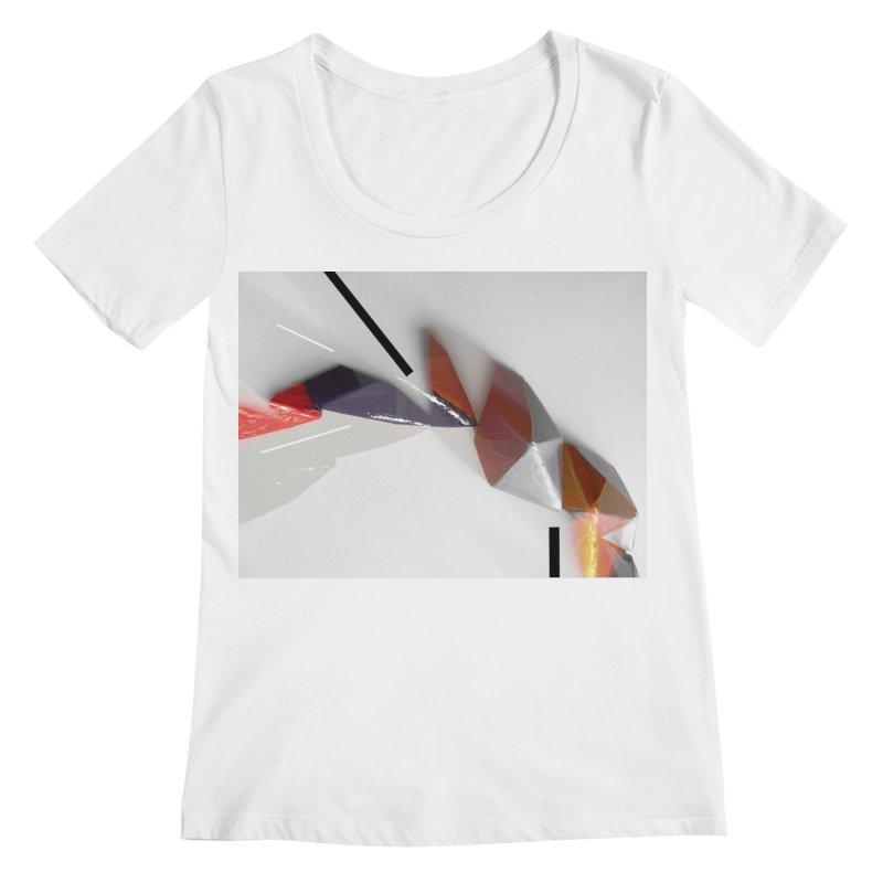 Polygon IV Women's Regular Scoop Neck by Kacix Artist Shop