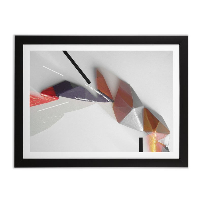 Polygon IV Home Framed Fine Art Print by Kacix Artist Shop