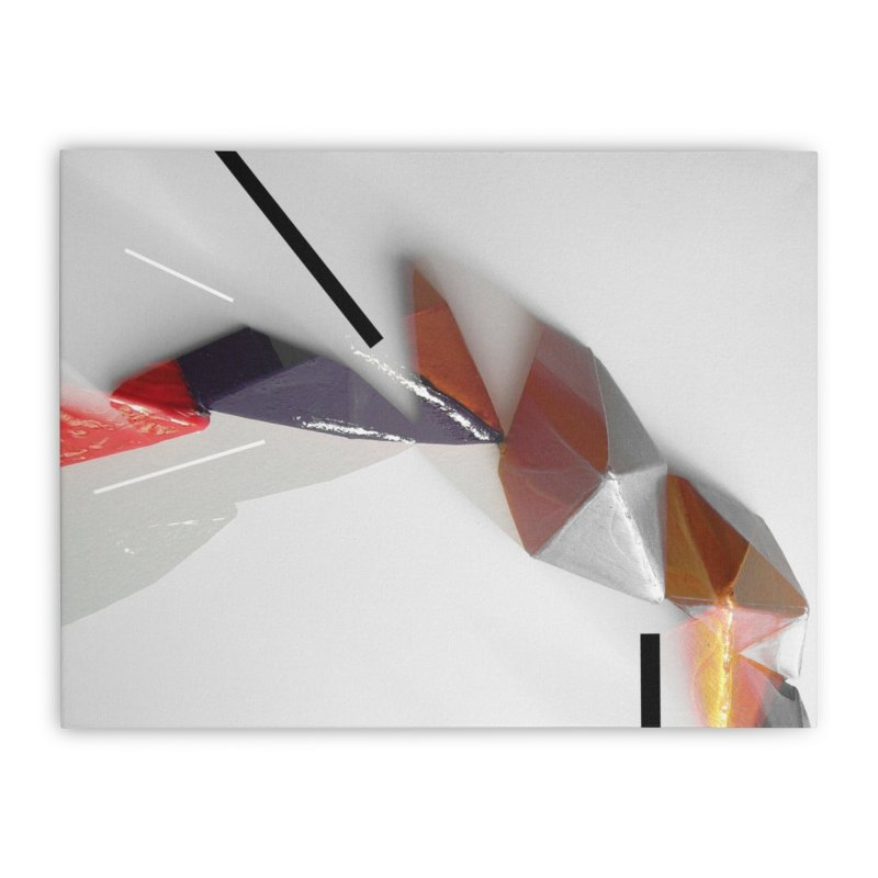 Polygon IV Home Stretched Canvas by Kacix Artist Shop