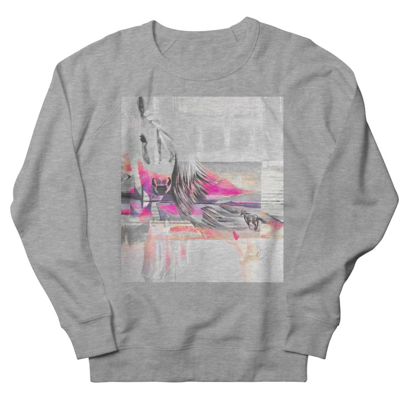 Horse Men's French Terry Sweatshirt by Kacix Artist Shop