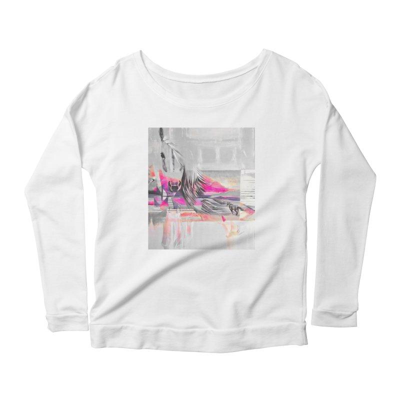 Horse Women's Scoop Neck Longsleeve T-Shirt by Kacix Artist Shop