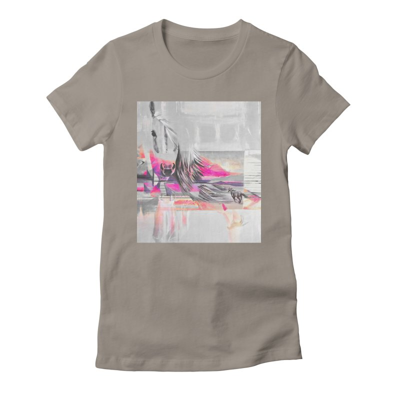 Horse Women's Fitted T-Shirt by Kacix Artist Shop