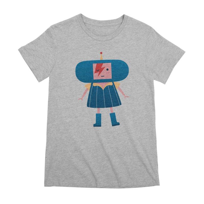 David Bowie Katamari Crossover Women's Premium T-Shirt by Kadusaurus's Shop