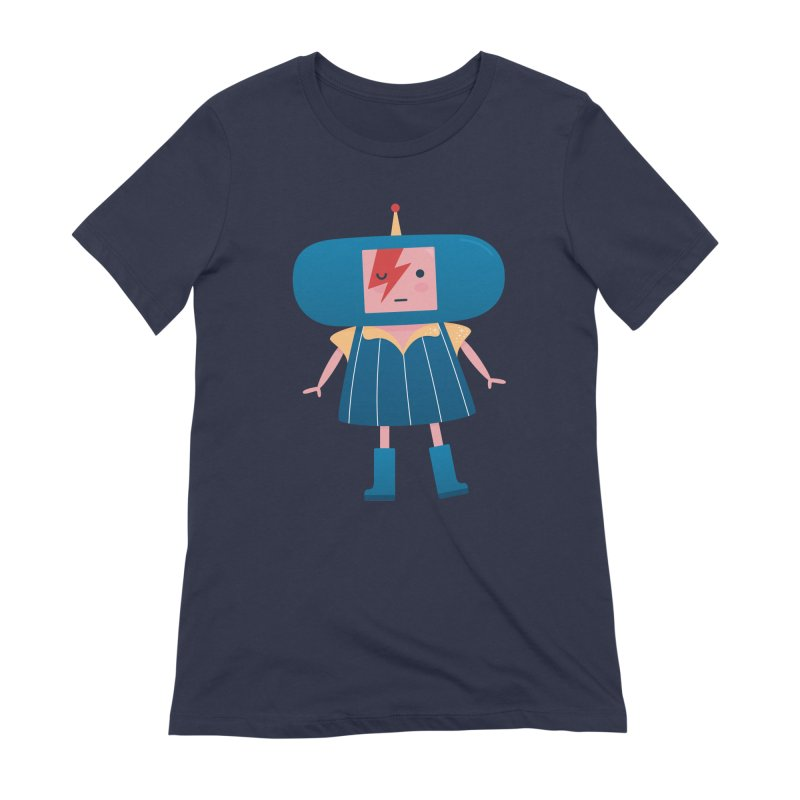 David Bowie Katamari Crossover Women's Extra Soft T-Shirt by Kadusaurus's Shop