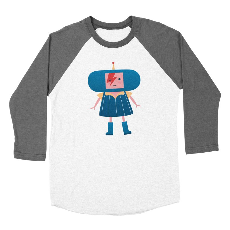 David Bowie Katamari Crossover Women's Baseball Triblend Longsleeve T-Shirt by Kadusaurus's Shop