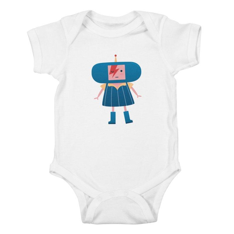David Bowie Katamari Crossover Kids Baby Bodysuit by Kadusaurus's Shop