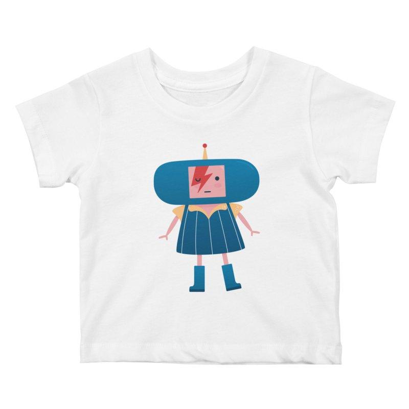 David Bowie Katamari Crossover Kids Baby T-Shirt by Kadusaurus's Shop