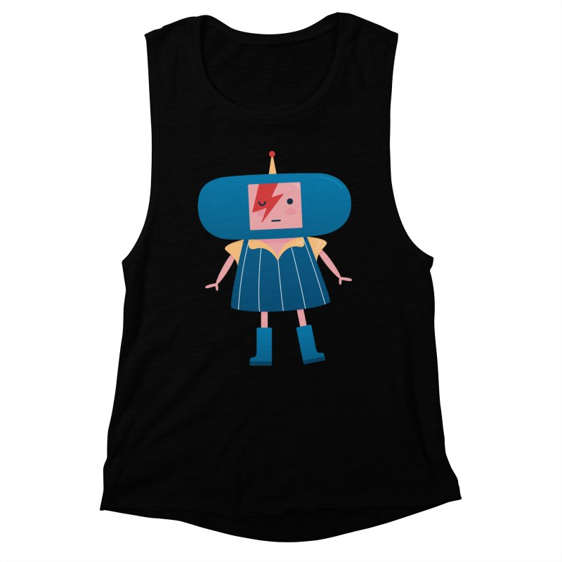 David Bowie Katamari Crossover Women's Muscle Tank by Kadusaurus's Shop