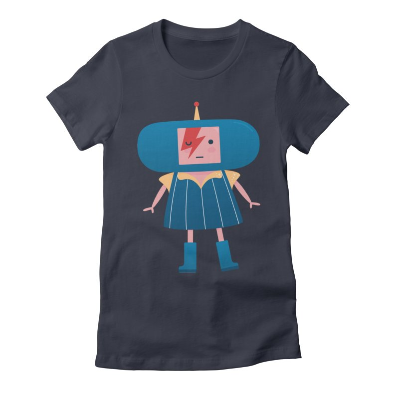 David Bowie Katamari Crossover Women's Fitted T-Shirt by Kadusaurus's Shop