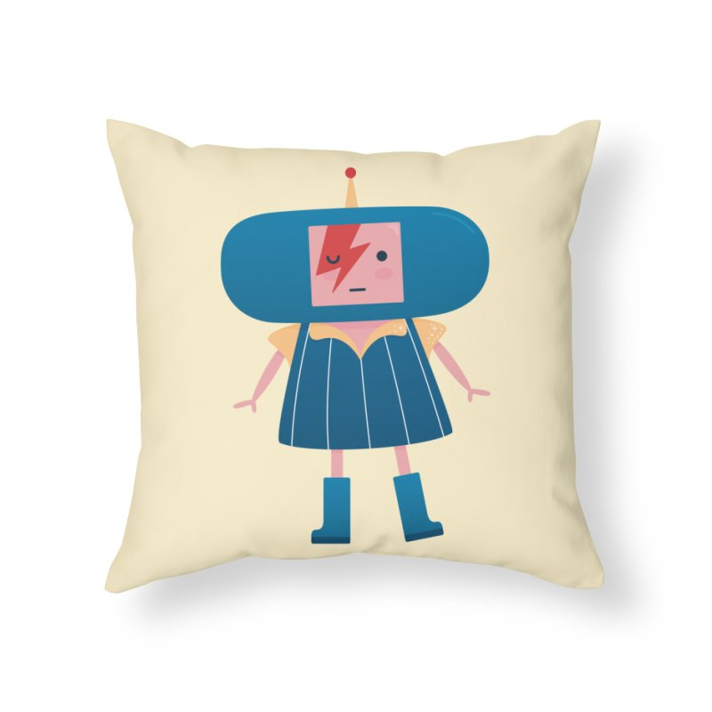 David Bowie Katamari Crossover Home Throw Pillow by Kadusaurus's Shop