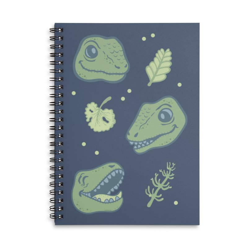 Laughing Dinosaur Accessories Lined Spiral Notebook by Kadusaurus's Shop