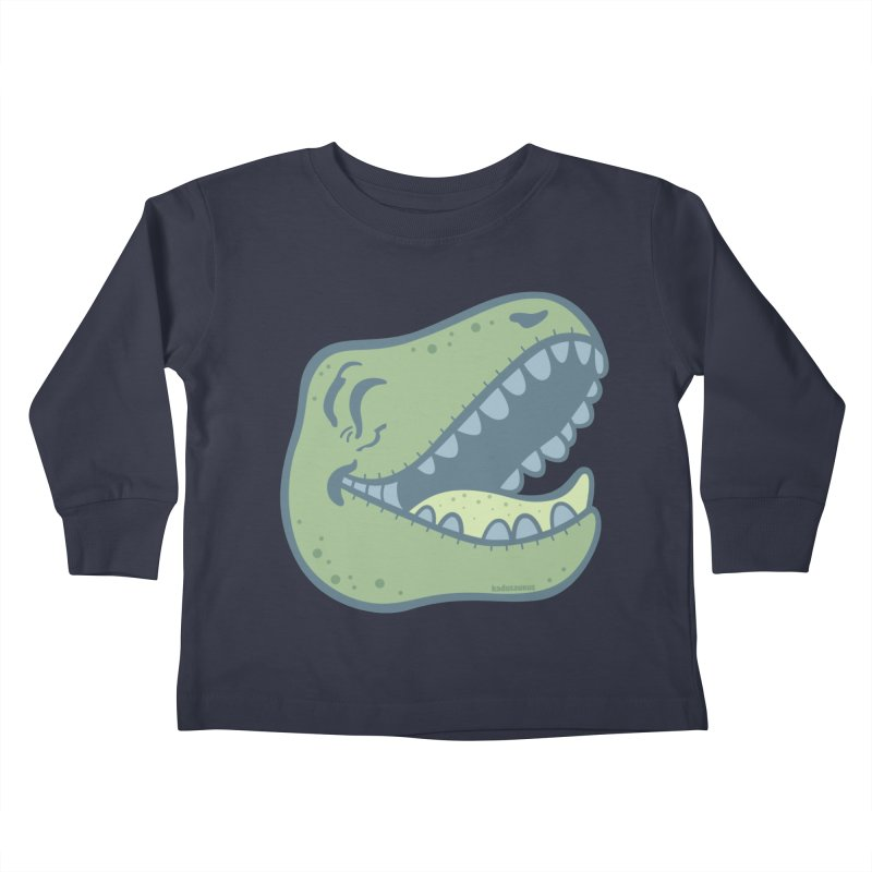 Laughing Dinosaur Kids Toddler Longsleeve T-Shirt by Kadusaurus's Shop