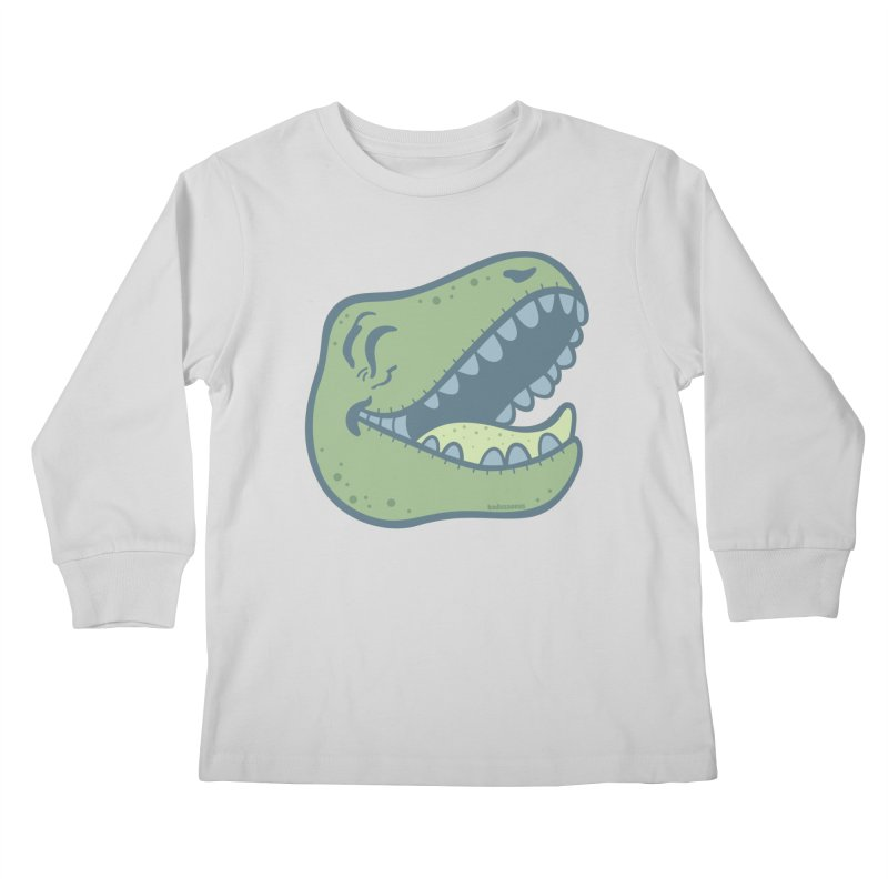 Laughing Dinosaur Kids Longsleeve T-Shirt by Kadusaurus's Shop