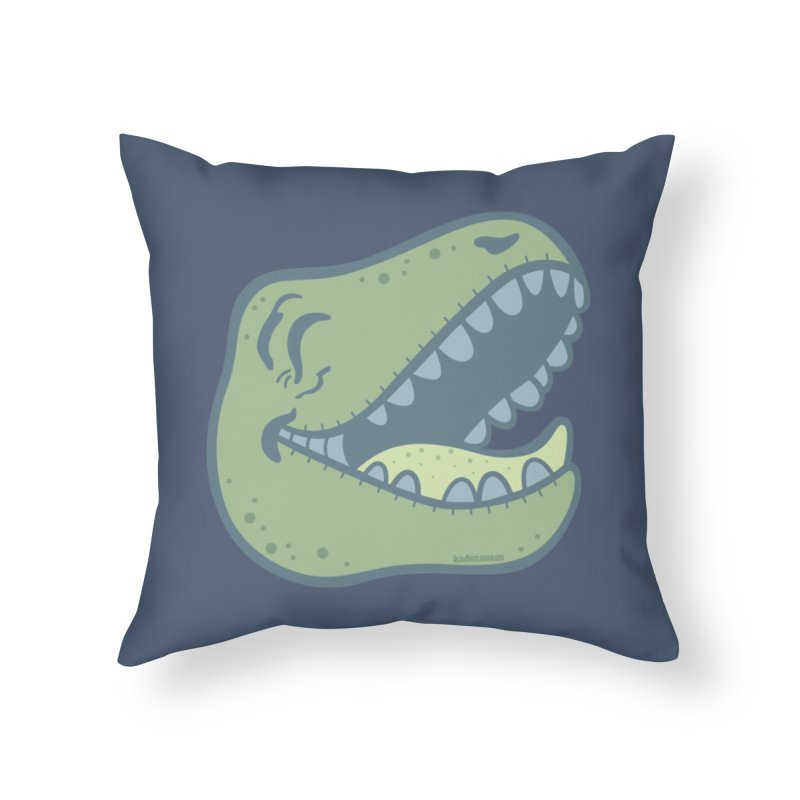 Laughing Dinosaur Home Throw Pillow by Kadusaurus's Shop