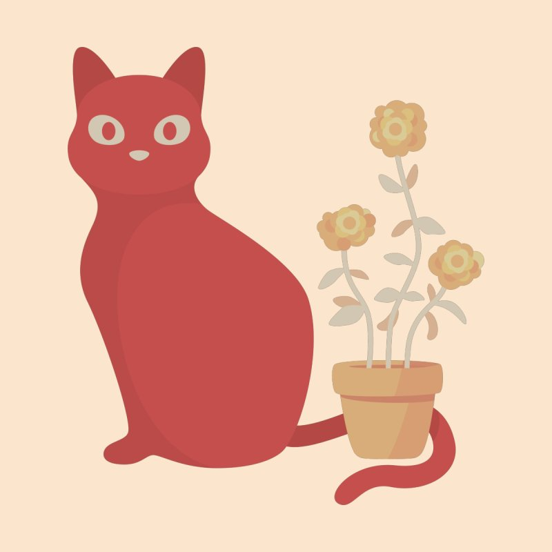 Orange Cat with Houseplant Accessories Notebook by Kadusaurus's Shop