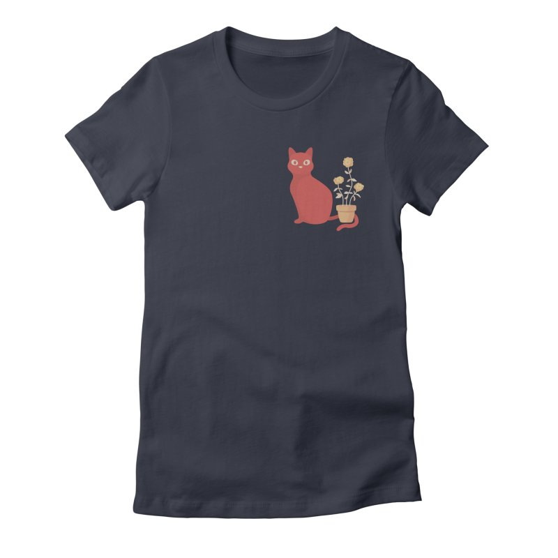 Orange Cat with Houseplant Women's T-Shirt by Kadusaurus's Shop