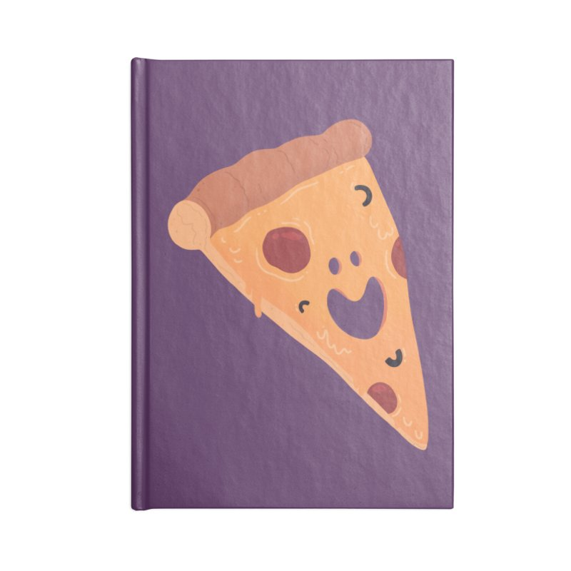 Happy Cheesy Pizza Accessories Notebook by Kadusaurus's Shop