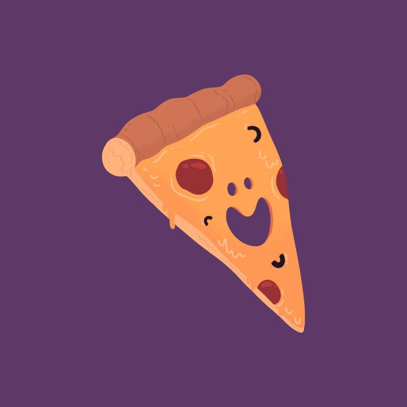 Happy Cheesy Pizza Women's Scoop Neck by Kadusaurus's Shop