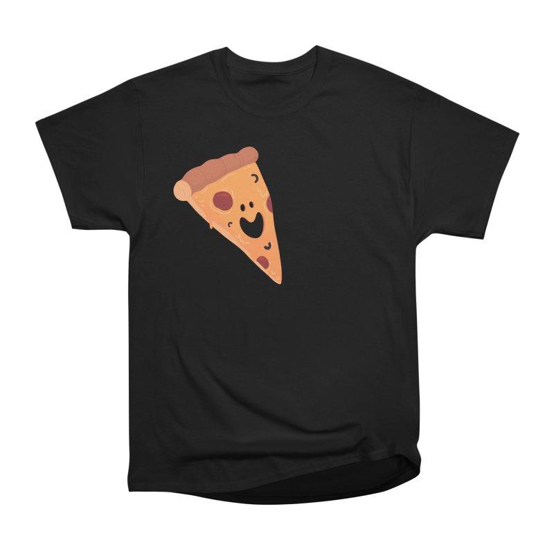 Happy Cheesy Pizza Men's T-Shirt by Kadusaurus's Shop