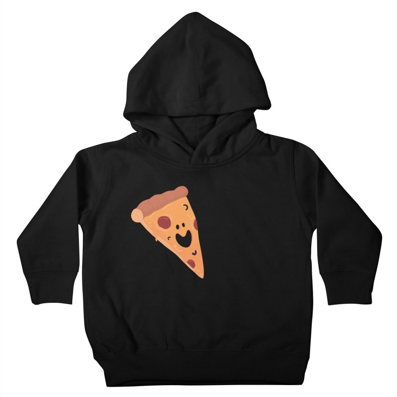Happy Cheesy Pizza Kids Toddler Pullover Hoody by Kadusaurus's Shop