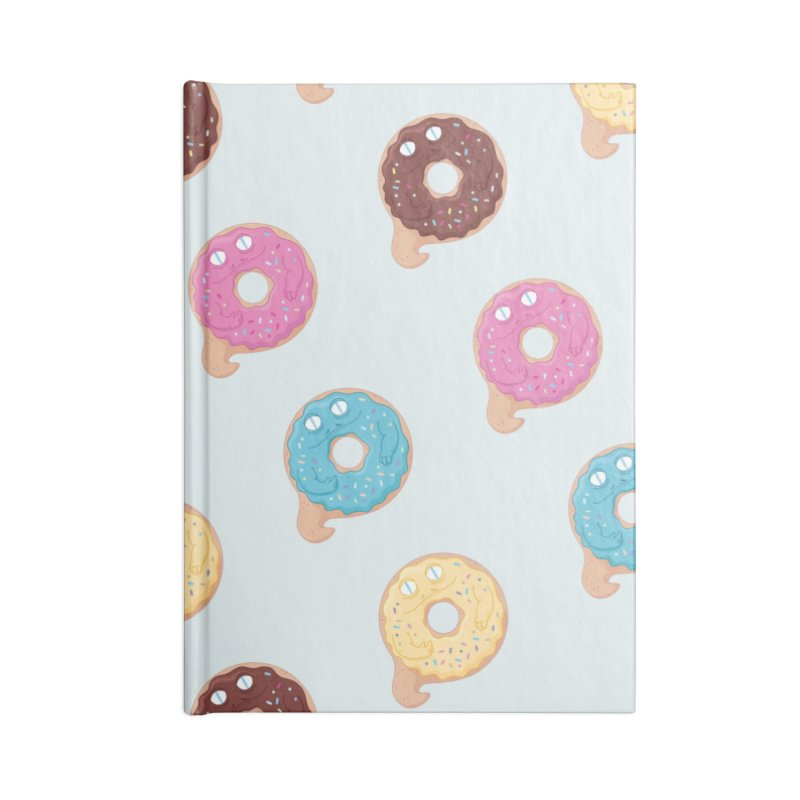 Jabba the Donut Accessories Lined Journal Notebook by Kadusaurus's Shop