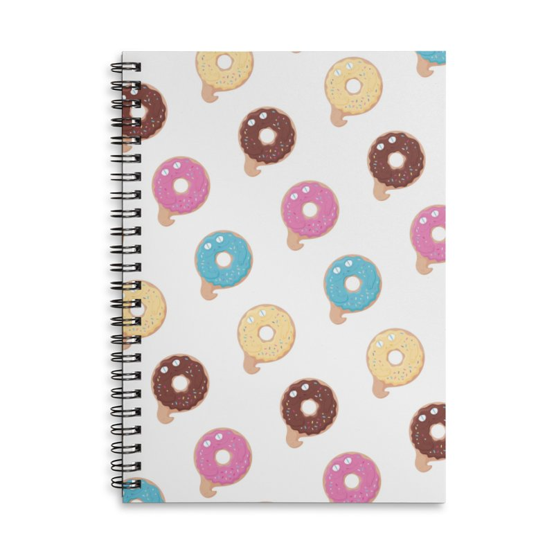 Jabba the Donut Accessories Lined Spiral Notebook by Kadusaurus's Shop