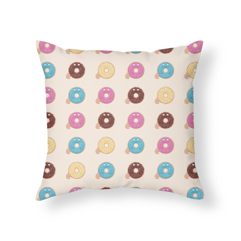 Jabba the Donut Home Throw Pillow by Kadusaurus's Shop