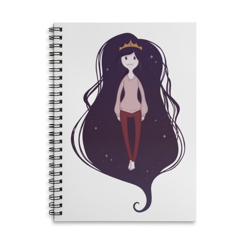 Marcy in Space Accessories Lined Spiral Notebook by Kadusaurus's Shop