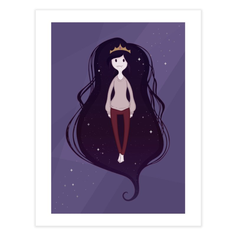 Marcy in Space Home Fine Art Print by Kadusaurus's Shop