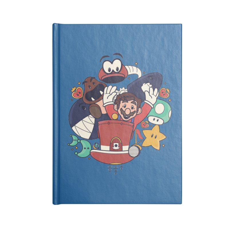 Mario Switch-in It Up Accessories Blank Journal Notebook by Kadusaurus's Shop