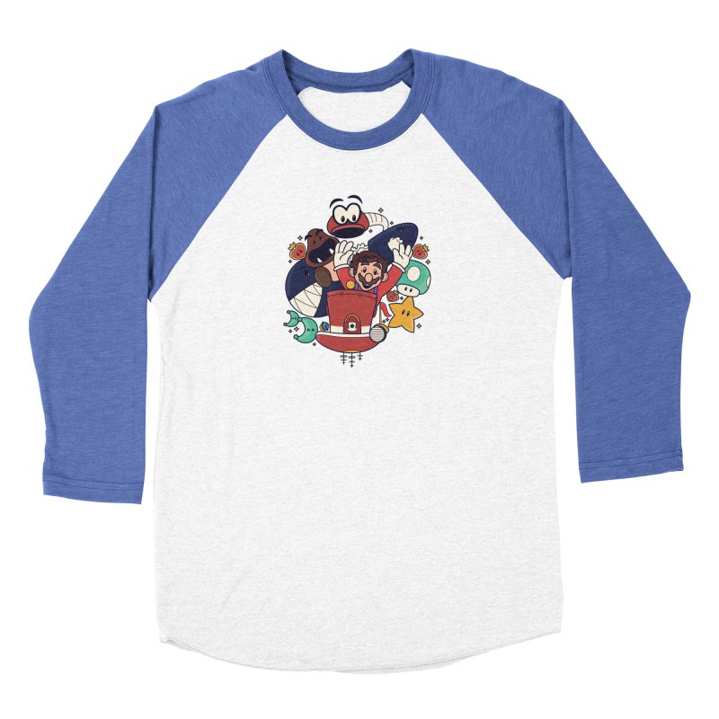 Mario Switch-in It Up Women's Baseball Triblend Longsleeve T-Shirt by Kadusaurus's Shop
